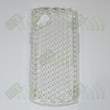 Funda Silicona Gel Samsung Wave S8500 Transparente Diamond