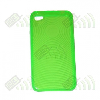 Funda Gel Iphone 4G Verde Círculos