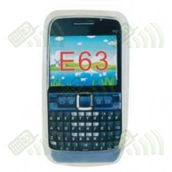 Funda Silicona Nokia E63 Transparente