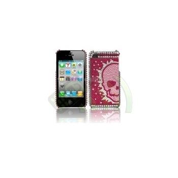 Carcasa trasera Calavera Iphone 4 / 4S Rosa