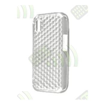 Funda Gel Samsung Star S5230 Transparente Hexágonos