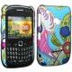 Carcasa trasera Floral Blackberry 8520/9300 Azul