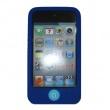 Funda Silicona Ipod Touch 4 Azul Con Bot