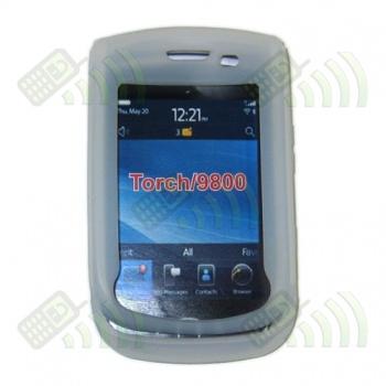 Funda Silicona BB 9800 Torch Semitransparente