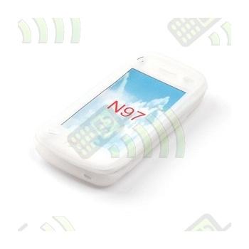 Funda Silicona Nokia N97 Mini Blanca