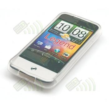 Funda Gel HTC Legend Transparente Círculos