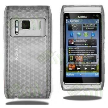 Funda Gel Nokia N8 Transparente Diamond