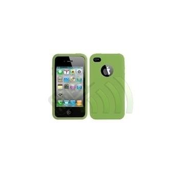 Funda Silicona Iphone 4 Verde Fluorescente