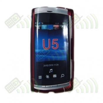 Carcasa trasera Sony Ericsson Vivaz U5i Roja