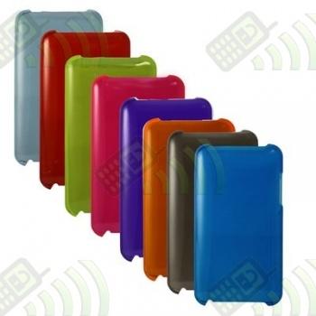 Carcasa trasera Ipod Touch 3 Naranja Semitransparente