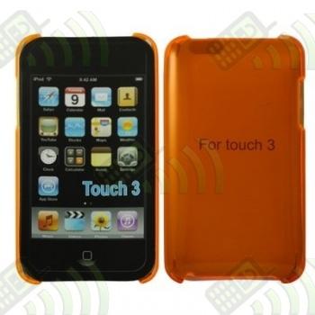 Carcasa trasera Ipod Touch 4 Naranja Semitransparente