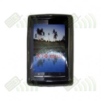Funda Silicona Gel SE Xperia X10 Mini Semitransparente