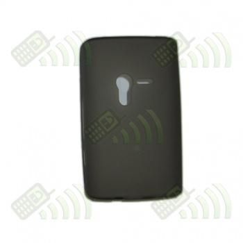 Funda Silicona Gel SE Xperia X10 Mini Oscura
