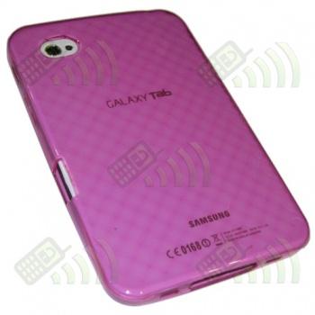 Funda Silicona Gel Samsung Galaxy Tab (GT-P1000) Rosa Diamond