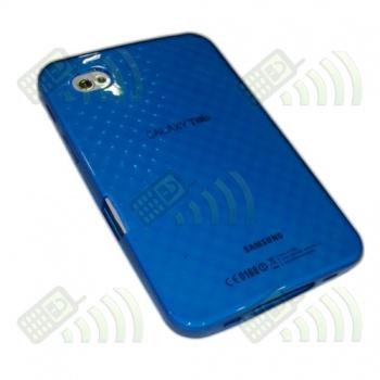 Funda Silicona Gel Samsung Galaxy Tab (GT-P1000) Azul Diamond