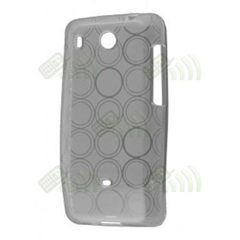 Funda Gel HTC Hero Transparente Círculos