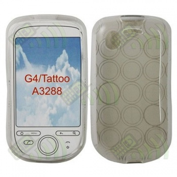 Funda Gel HTC Tattoo Transparente Círculos