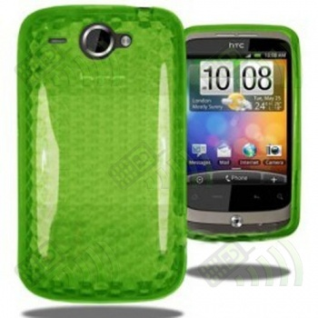 Funda Gel HTC Wildfire Verde Diam.