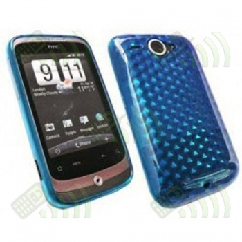 Funda Gel HTC Wildfire Azul Diam.