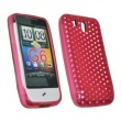 Funda Gel HTC Legend Rosa Diam.