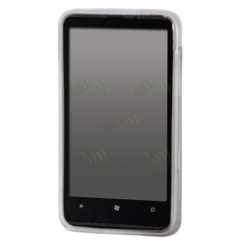 Funda Gel HTC HD7 Transparente Círculos