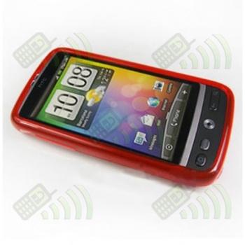 Funda Gel HTC Desire Roja