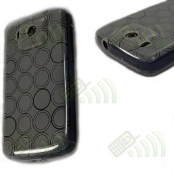 Funda Gel HTC Touch HD Oscura Círculos