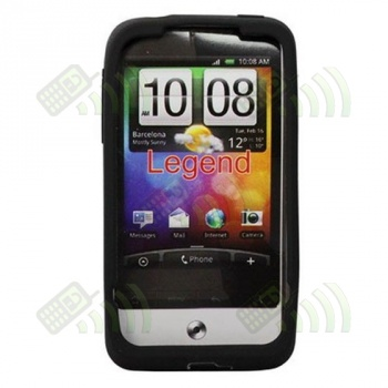 Funda Silicona HTC Legend Negra
