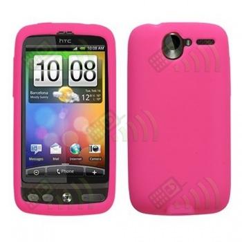 Funda Silicona HTC Desire Rosa