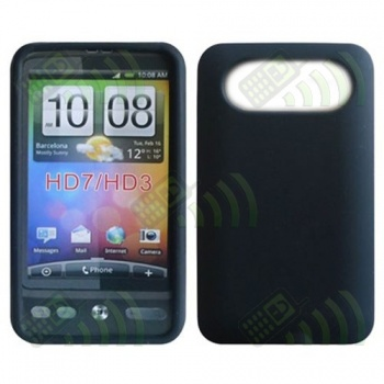 Funda Silicona HTC HD7 Negra