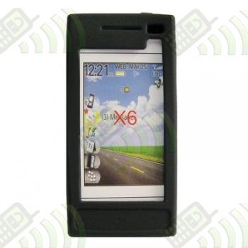 Funda Silicona Nokia X6 Negra