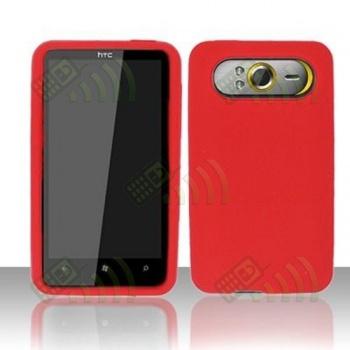 Funda Silicona HTC HD7 Roja