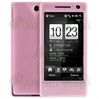 Funda Silicona HTC Diamond 2 Rosa