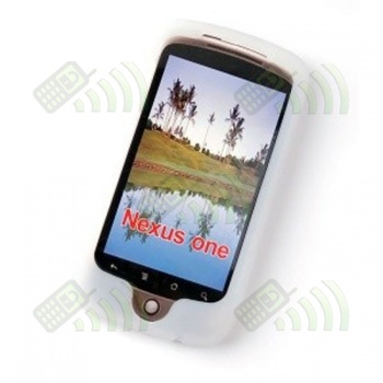 Funda Silicona HTC Nexus One Semitransparente