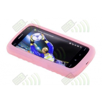 Funda Silicona HTC Touch HD Rosa