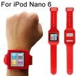 Soporte Muñeca Silicona Ipod Nano 6 Rojo