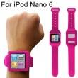 Soporte Muñeca Silicona Ipod Nano 6 Rosa