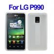 Funda Gel Silicona LG P990 Blanca