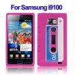 Funda Silicona Samsung Galaxy S2 i9100 Cassette Blanca