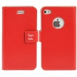 Funda Tipo Solapa Iphone 4 y 4S Rojo