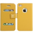 Funda Tipo Solapa Iphone 4 y 4S Amarillo