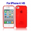 Funda Gel iPhone 4 & 4S Roja