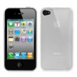 Funda Gel iPhone 4 & 4S Blanco Translucido