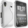 Funda Gel Samsung S5830 Galaxy Ace Blanca Brillo y Mate
