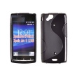Funda Gel SE Xperia Arc Negra Brillo Mate
