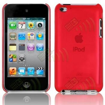Carcasa trasera Ipod Touch 4 Roja Semitransparente