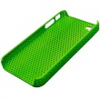 Carcasa trasera Iphone 4 Perforada Verde Fluorescente