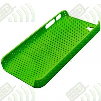 Carcasa trasera Iphone 4 Perforada Verde Fluorescente