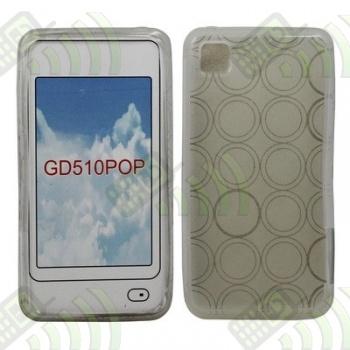 Funda Gel LG GD510 POP Transparente Círculos