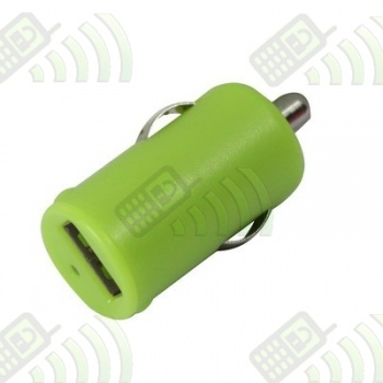 Adaptador Puerto USB Coche 1A Verde